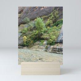 VIbrant Green Trees   Lush Environment   River   Outdoors   Nature Mini Art Print