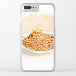 Pasta love Clear iPhone Case