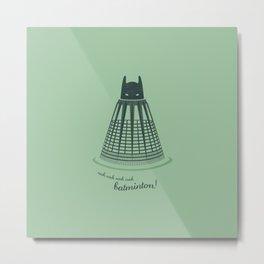 Batminton Metal Print