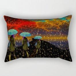 Radioactive rain Rectangular Pillow