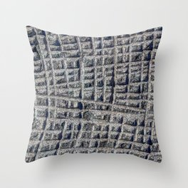 Sawn in Blue Granite Wall Throw Pillow