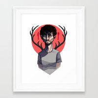 will graham Framed Art Prints featuring Will Graham by nucleir