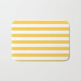Stripes (Orange & White Pattern) Bath Mat