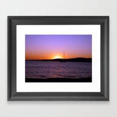 Sunset Sail, Paros Island, Greece Framed Art Print