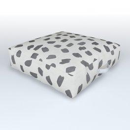 Simply Ink Splotch Green Tea on Lunar Gray Outdoor Floor Cushion