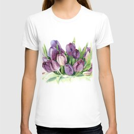 Watercolor bouquet of tulips T-shirt