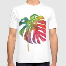 Leaf vol 2 Mens Fitted Tee MEDIUM White