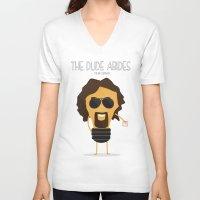 big lebowski V-neck T-shirts featuring  The Big Lebowski by BajuKhaju