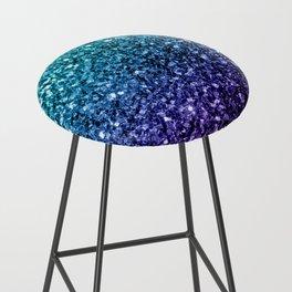 Beautiful Aqua blue Ombre glitter sparkles Bar Stool