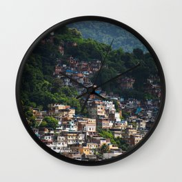 Favela - Rio - photo series Wall Clock