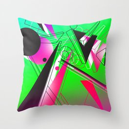 Abstract Vision Throw Pillow