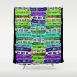 Fluoro Cassette Stacks Shower Curtain