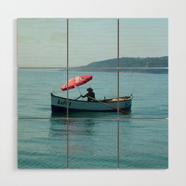 One Man and His Boat Wood Wall Art