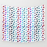 ethnic Wall Tapestries featuring ethnic triangles by haroulita