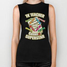 TK Teacher Gift for Transitional Kindergarten Teachers, Assistants and School Educators Biker Tank