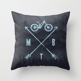 Downhill MTB Throw Pillow