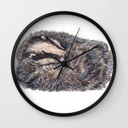 Sleeping Badger Wall Clock