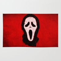 scream Area & Throw Rugs featuring Scream by Bill Pyle