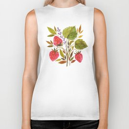 Early Summer Strawberries Are The Sweetest Biker Tank