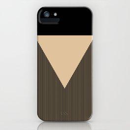 Beige Triangle iPhone Case