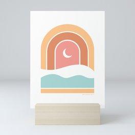 Rainbow Moon Mini Art Print