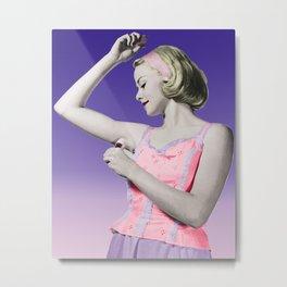 Retro Deodorant Girl Metal Print