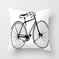 copenhagen Throw Pillows featuring Copenhagen  by PaperandPaintbrush