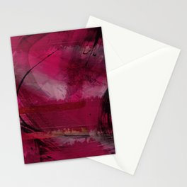 """Spring abstract in Magenta and Black"" Stationery Cards"