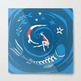 Whirlpool in the deep blue Metal Print