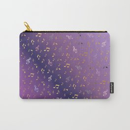 shiny music notes dark purple Carry-All Pouch
