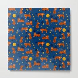 Cosmic Tigers Metal Print