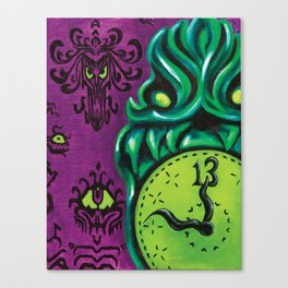 "Disneyland Haunted Mansion inspired ""Wall-To-Wall Creeps No.3""  Canvas Print"