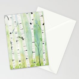 Birch Trees 2  Stationery Cards