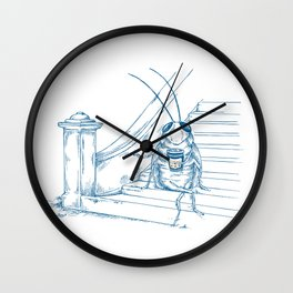 Cup O' Coffee NYC Style_cockroach Wall Clock