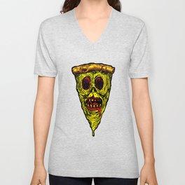 Pizza Face - Zombie Unisex V-Neck