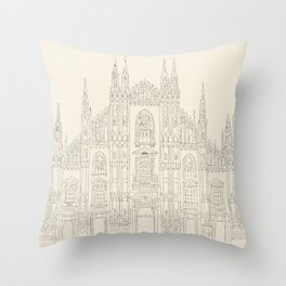 Cathedral of Milan Throw Pillow