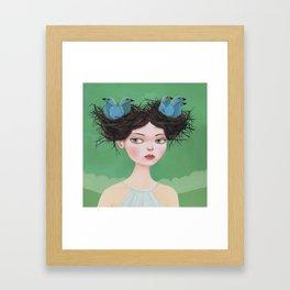Gwen of Two Nests Framed Art Print