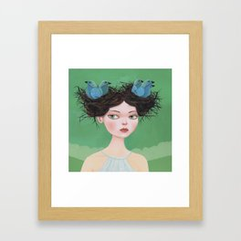 Gwen of Two Nests Framed Art Print