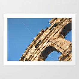 Coliseum in Pula Art Print