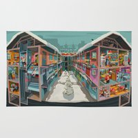 budapest Area & Throw Rugs featuring BUDAPEST BANG by Zsolt Vidak