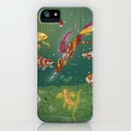 Ukiyo-e tale: The magic pen iPhone Case