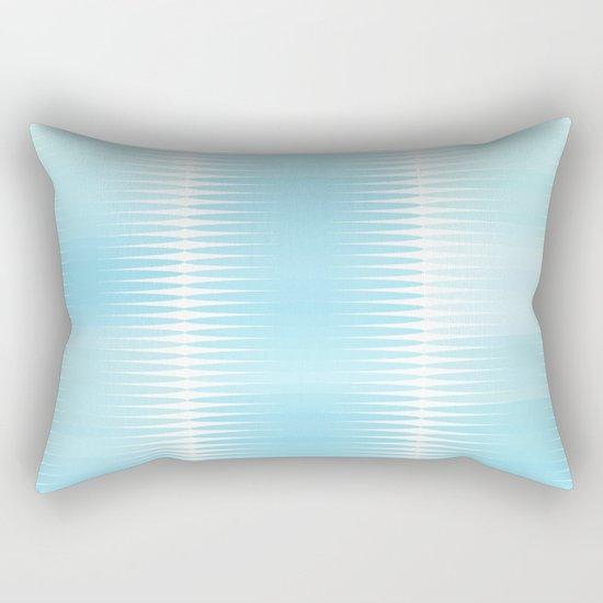 Ocean Blue Geometric Abstract Rectangular Pillow