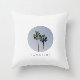 SAN DIEGO / palm trees / california summer Throw Pillow