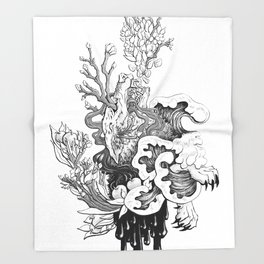 Fairytale : The Devourer Throw Blanket