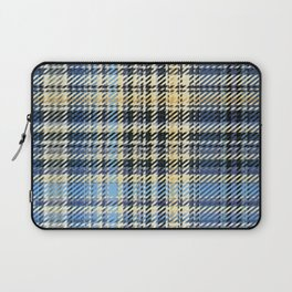 blue turquoise beige white striped geometric design Laptop Sleeve