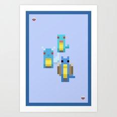 Blue Family Art Print