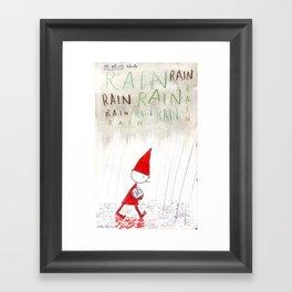Rain, Rain, Rain! Framed Art Print