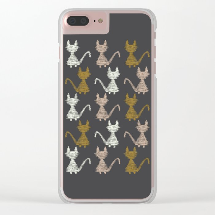 Cat pattern 2 Clear iPhone Case