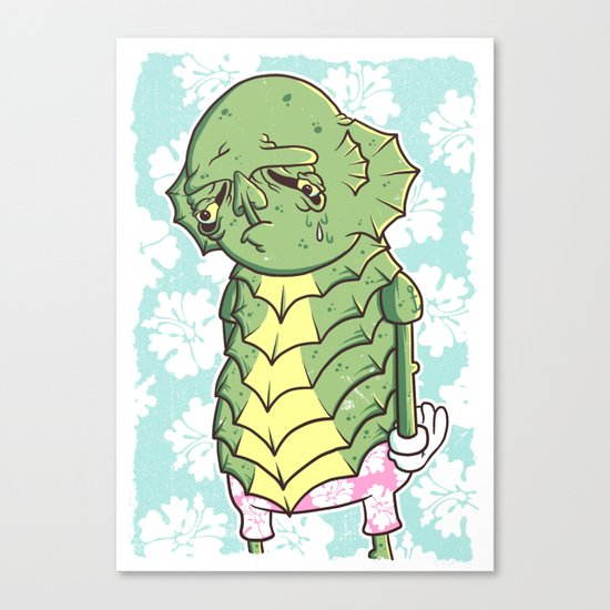 The Sadness Of The Creature Canvas Print