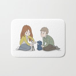 The Girl Who Waited, The Boy Who Waited, and Their Raggedy Doctor Bath Mat